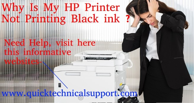 Why is my hp printer not printing black ink